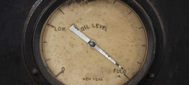 Indicateur de niveau d'huile affichant plein